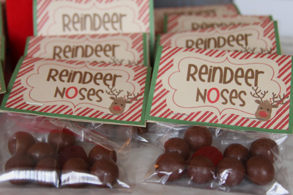 Fun Christmas Gift For Kids To Give Classmates \u2013 Reindeer Noses
