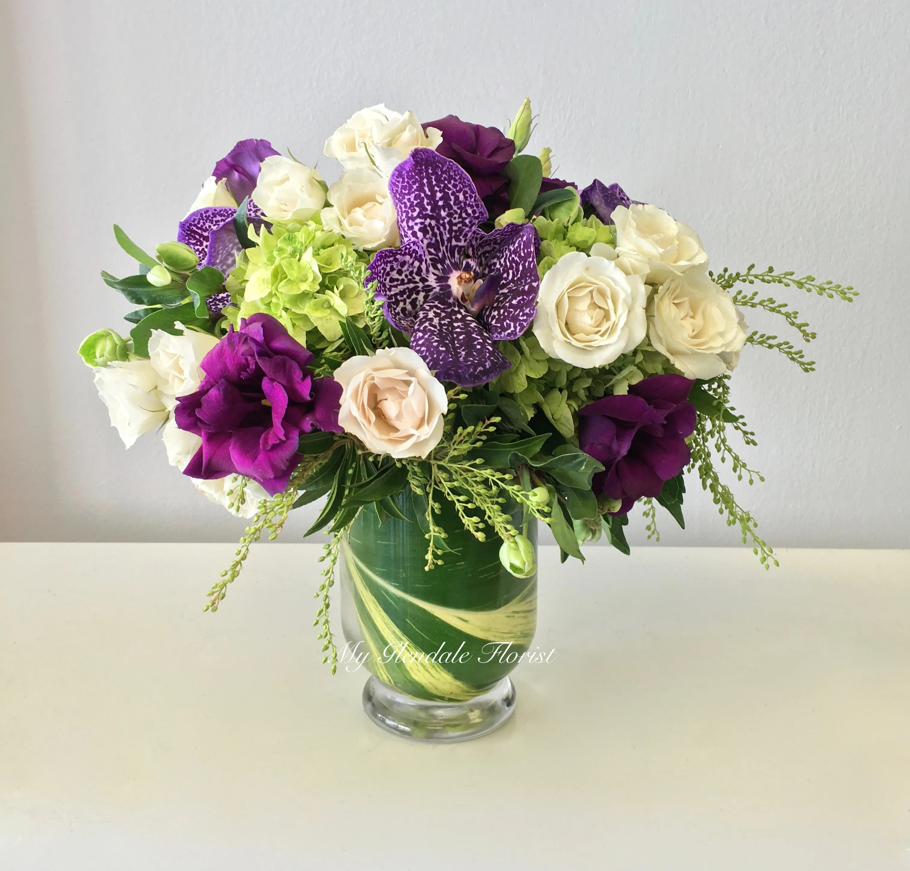 Vanda Orchid And Lisianthus Special Glendale Florist In Glendale Ca Glendale Florist