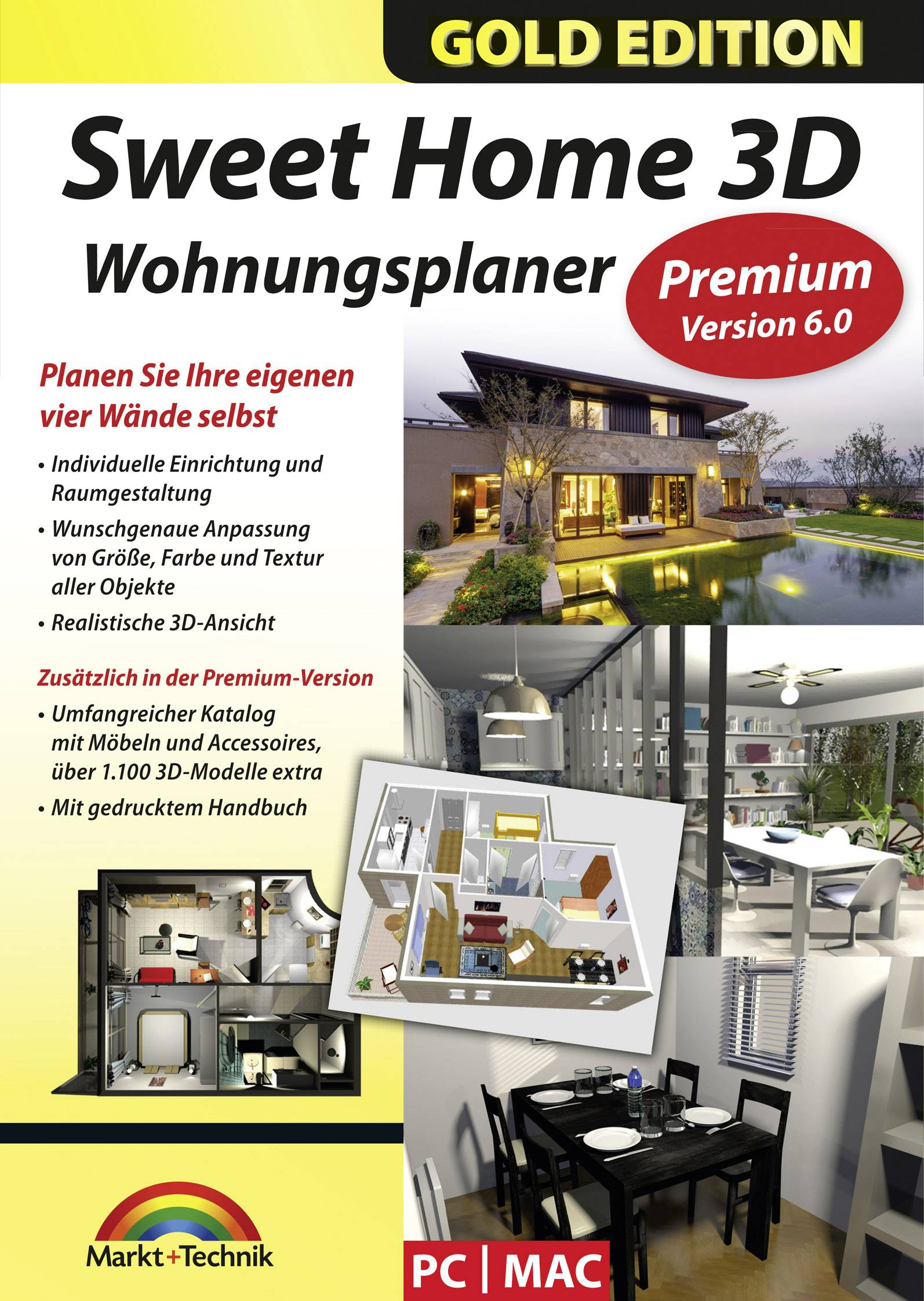 3d Wohnungsplaner Markt Technik Sweet Home 3d Full Version 1 License Windows Mac Os Planning