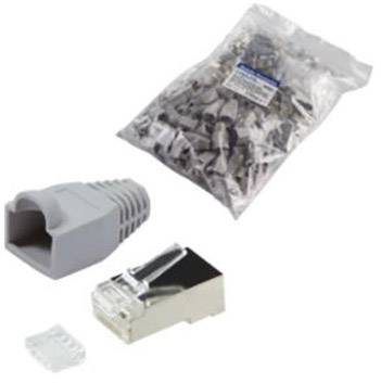 RJ45 CONNECTOR CAT 6, shielded Plug, straight Number of pi Conrad