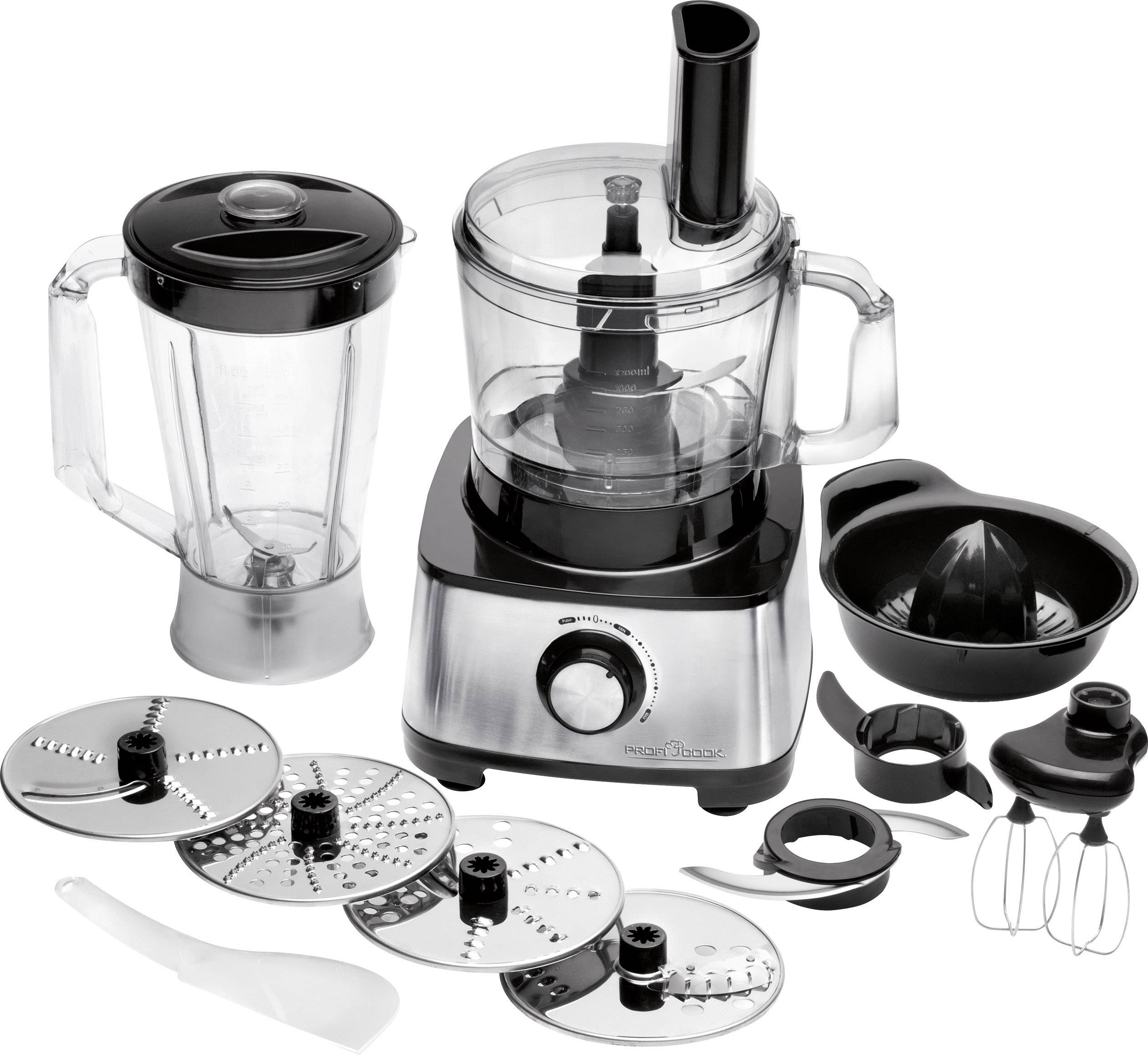 Profi Cook Kompaktküchenmaschine Profi Cook Pc Km 1063 Food Processor 1200 W Black Silver Conrad