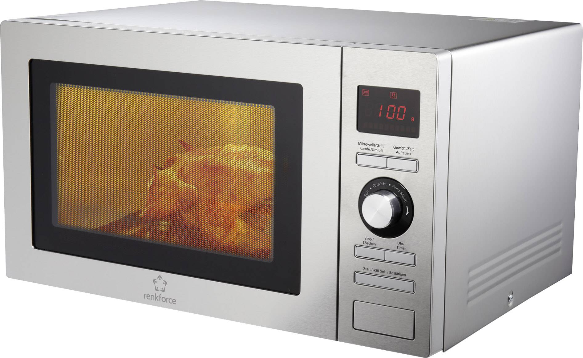 Mikrowelle Grill Renkforce Microwave 900 W Grill Function Heat Convection