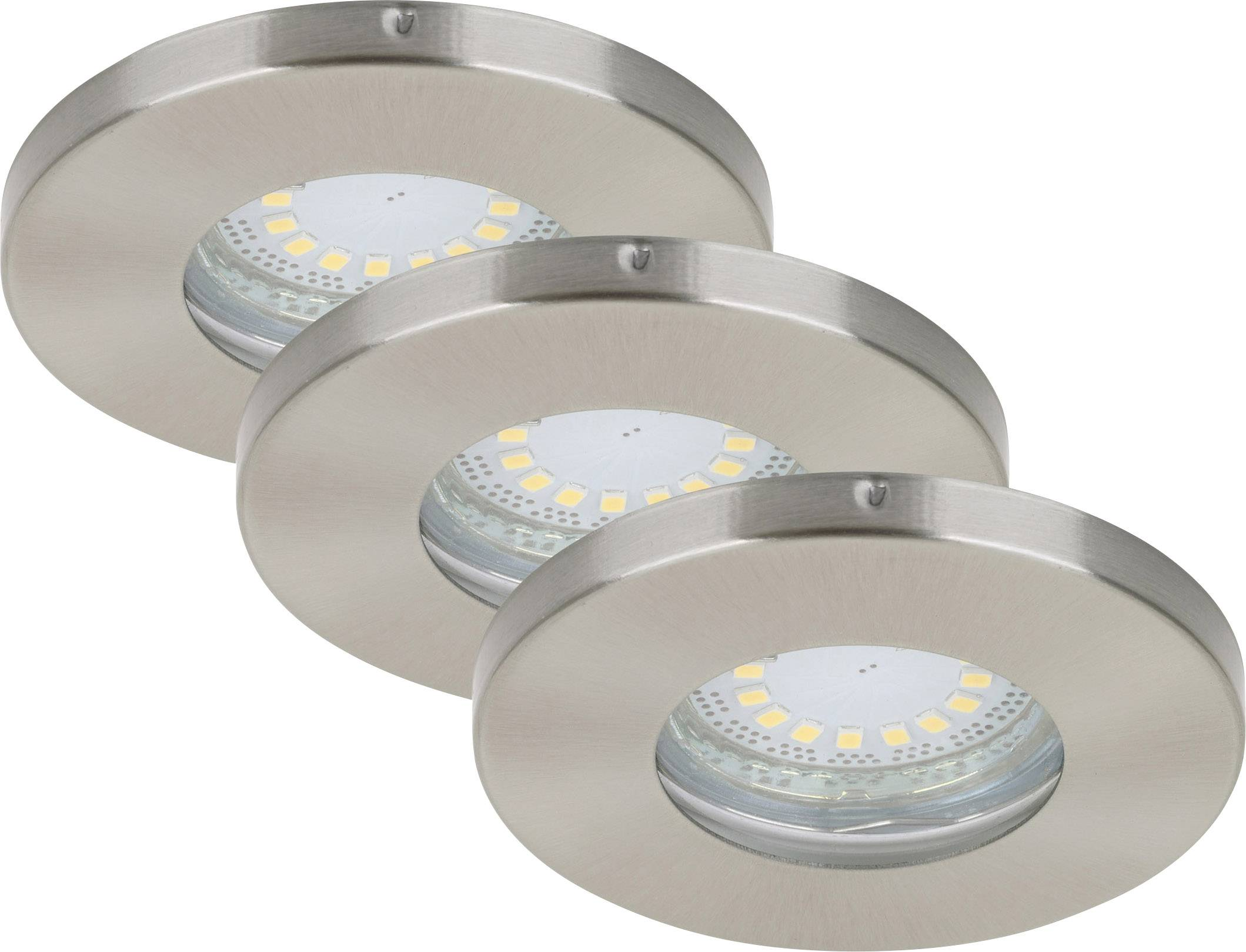 Bad Led Einbauleuchten Briloner Bathroom Recessed Light Led Eec A A E Gu10 12 W Ip44 Nickel Matt