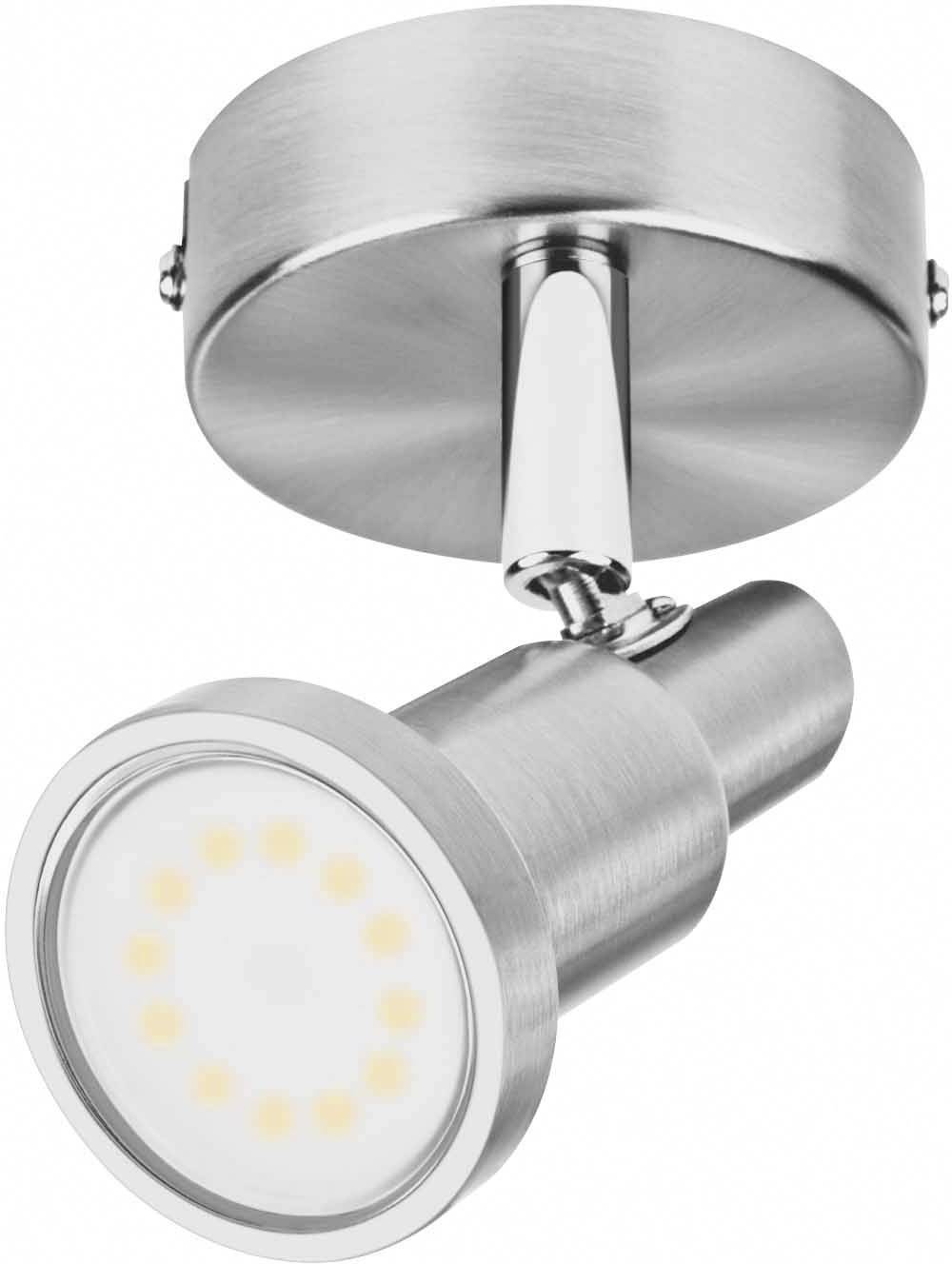 Led Spot Gu10 Ceiling Floodlight Led Gu10 Eec A A E 3 W Osram Led Spot 1x3w Grå 4052899393653 Nickel Brushed