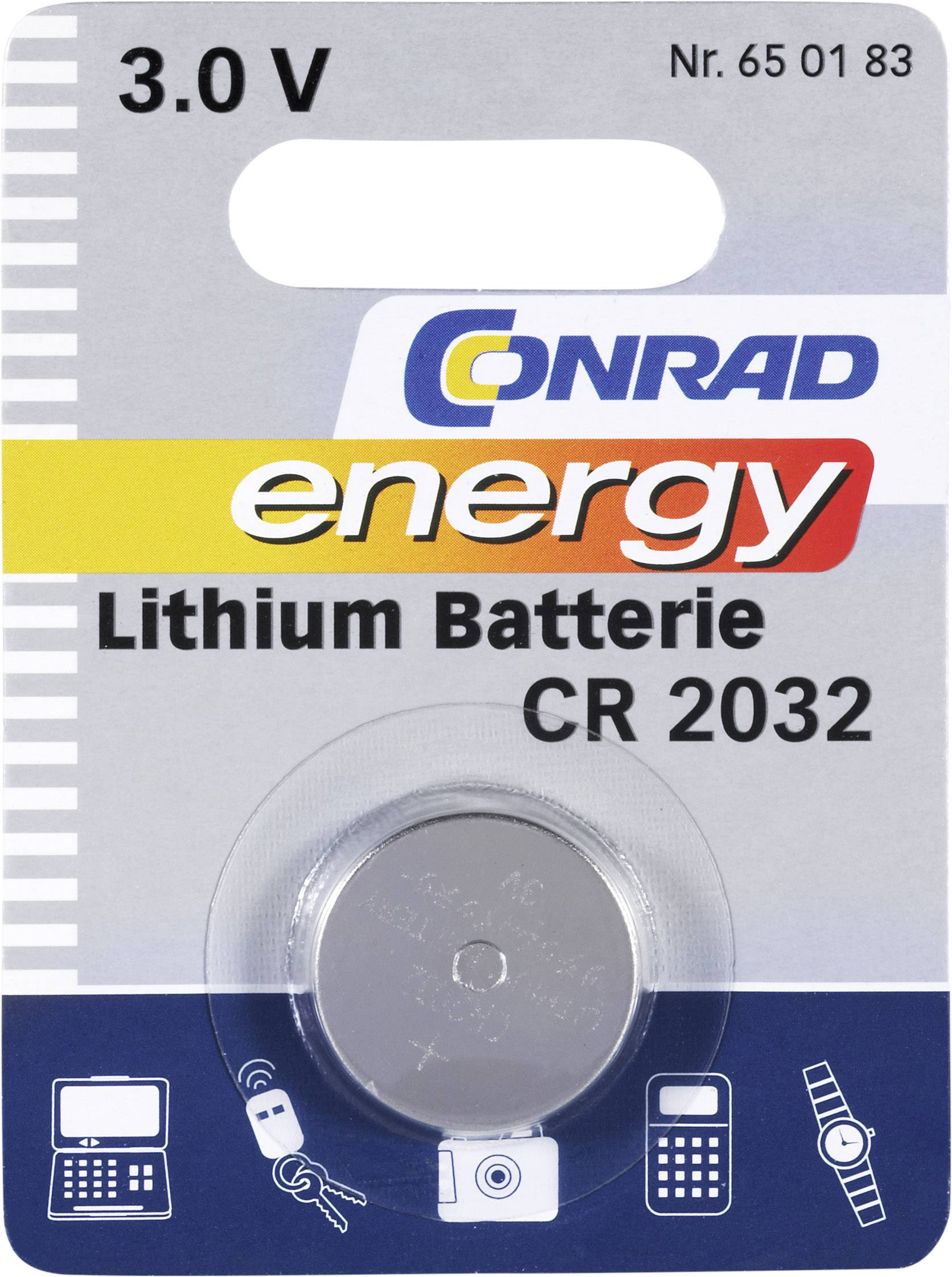Batterie Cr2032 Button Cell Cr2032 Lithium Conrad Energy