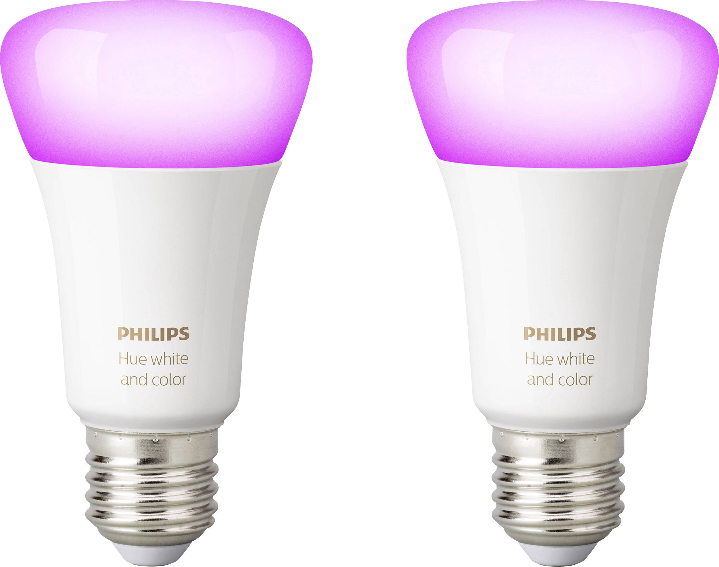 Lampadine Led Philips Lighting Hue Kit 2 Lampadine Led White And Color Ambiance Classe Energetica A A E E27 10 W Rgbw