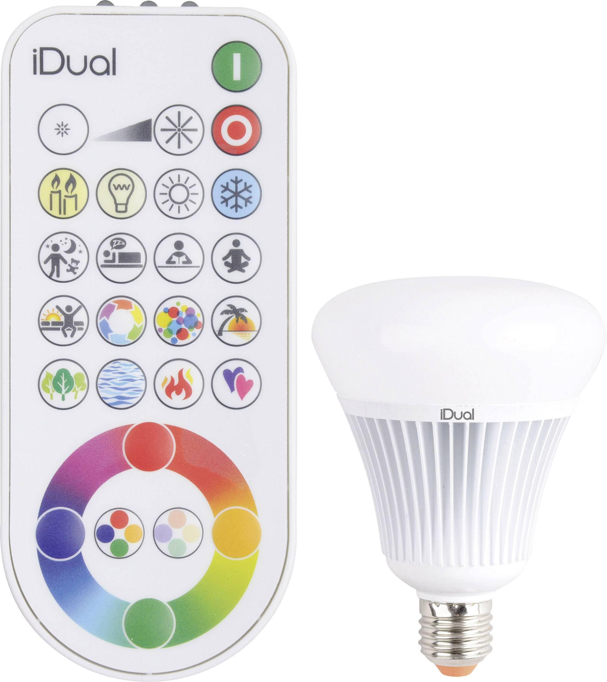 Idual Verlichting Jedi Lighting Led Energielabel A A E E27 Bol 16 W 75 W Rgbw Ø X L 100 Mm X 138 Mm Dimbaar Colorchanging 1 Stu