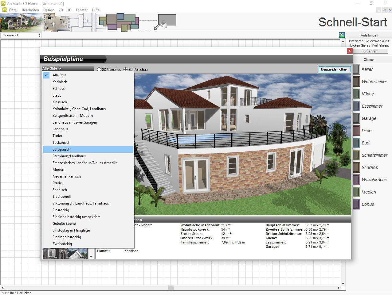 3d Architekt Avanquest Architekt 3d 20 Home Vollversion 1 Lizenz Windows Planungs Software