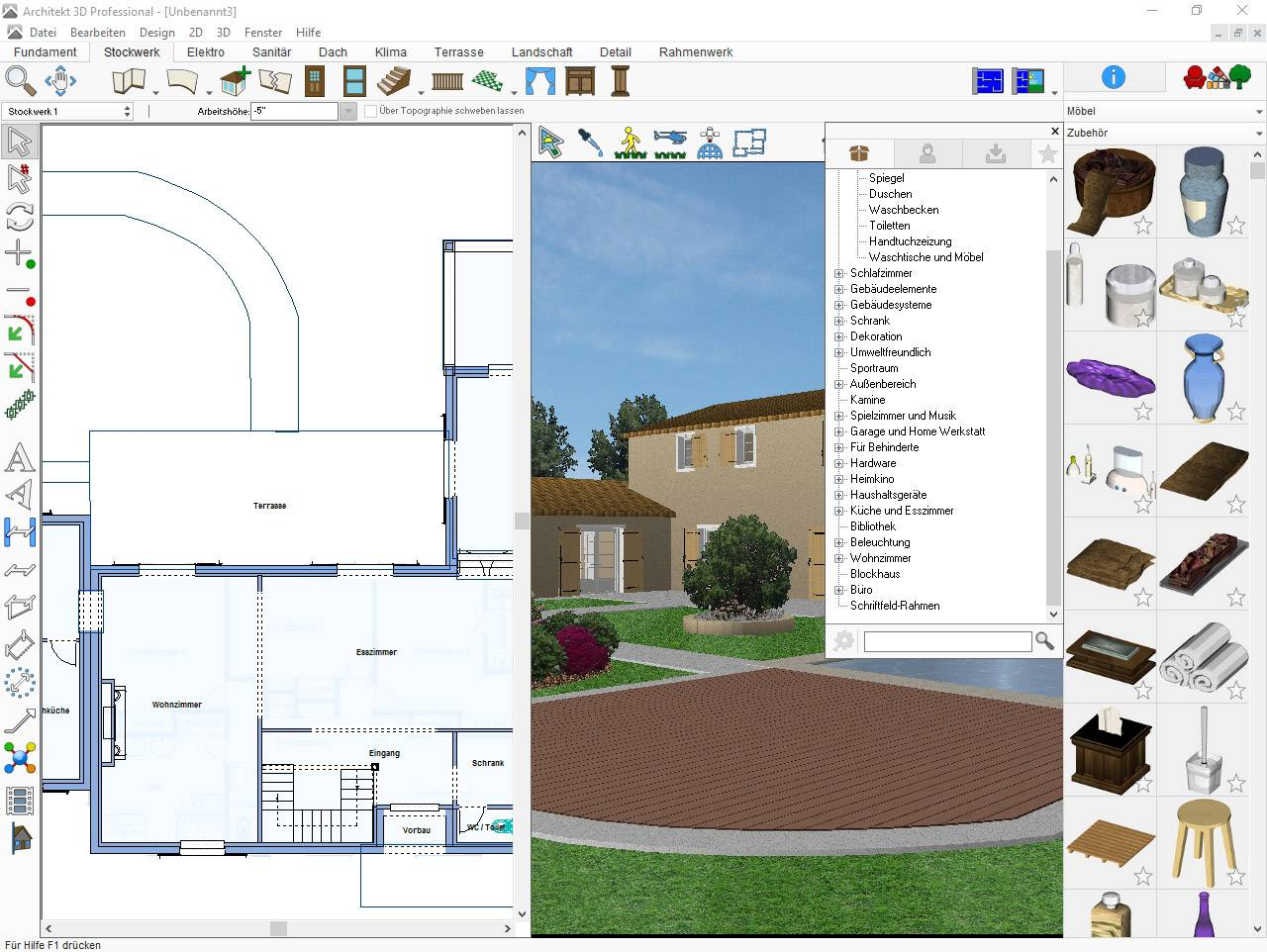 3d Architekt Avanquest Architekt 3d 20 Professional Vollversion 1 Lizenz Windows Planungs Software