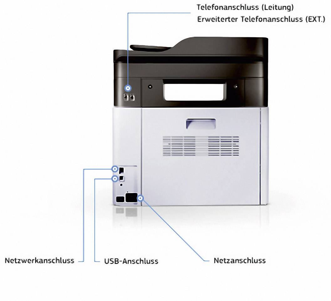 Samsung Multifunktionsdrucker Samsung Xpress C1860fw Farblaser Multifunktionsdrucker A4
