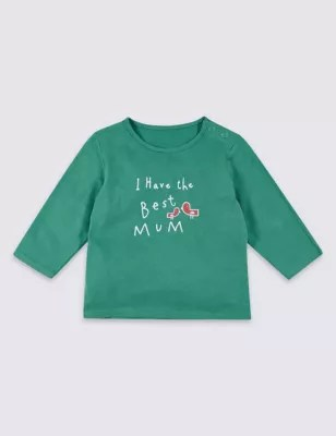 Jb Lighting T-shirt Best Mum Pure Cotton Printed Top