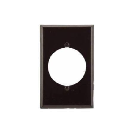 Cooper Wiring Power Outlet Wallplate, 1 Gang, Brown, Mid-Size 4-1/2