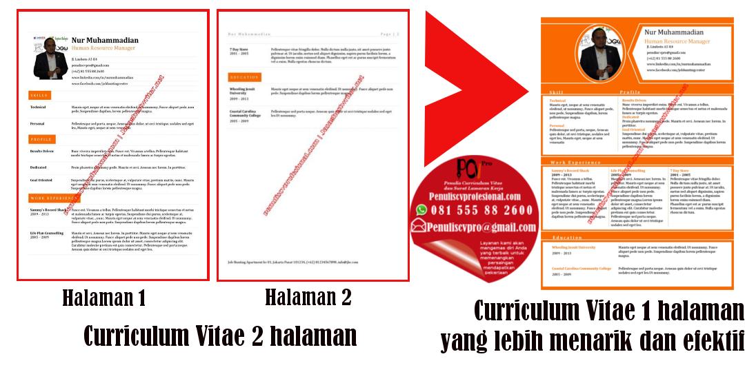 contoh curriculum vitae cv yang efektif dan menarik
