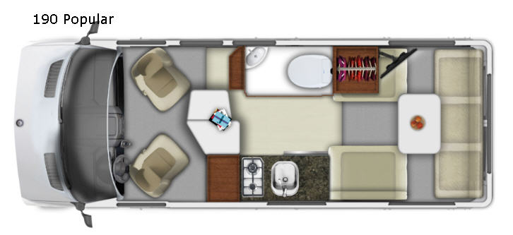 Roadtrek Motor Home Class B RV Sales 7 Floorplans