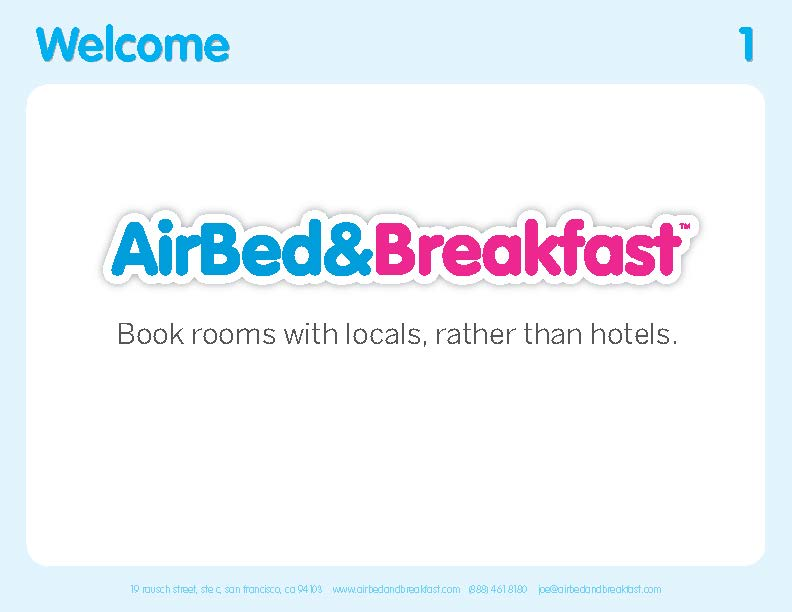 Airbnb pitch deck teardown and redesign (PDF Download)