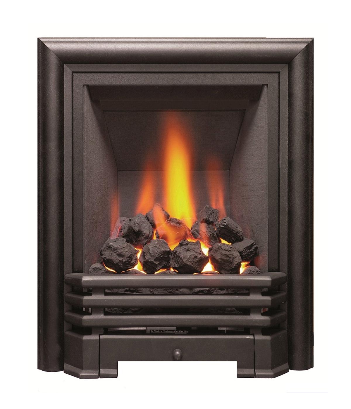 Be Modern Savannah Slimline Inset Gas Fire Black Coal 81078