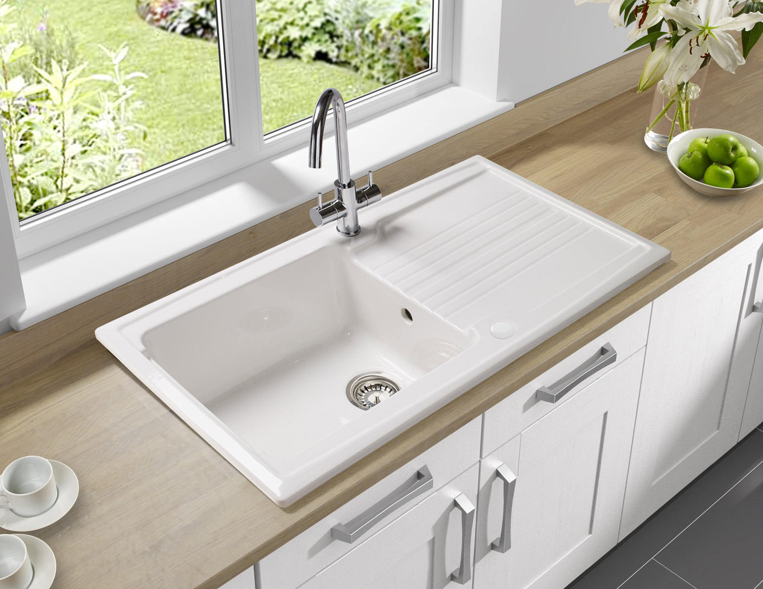 Ceramic Kitchen Sink Astracast Equinox 1 Bowl Ceramic Inset Kitchen Sink