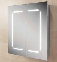 HIB Zephyr 60 Steam Free Aluminium Mirrored Cabinet 600 x ...