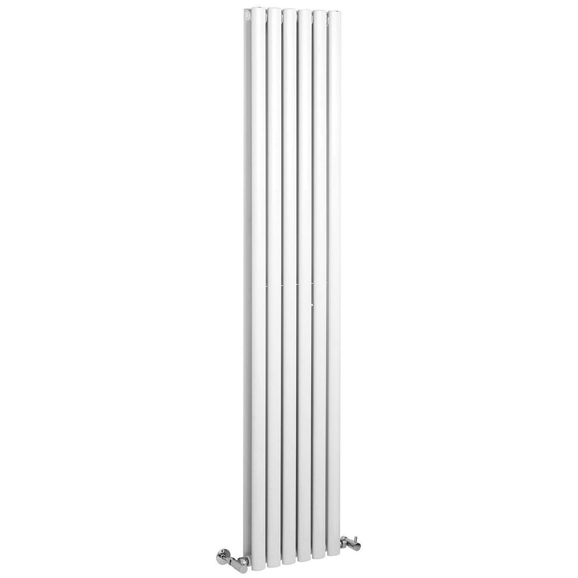 Radiateur Vertical Eau Chaude Lauren Ricochet Double Panel 354 X 1800mm Red Vertical