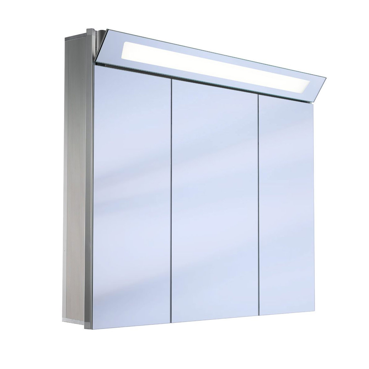 3 Door Mirrored Bathroom Cabinet Schneider Capeline 3 Door Illuminated Mirror Cabinet 1000mm