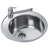 Teka Centroval 45 Stainless Steel 1.0 Bowl Round Inset ...