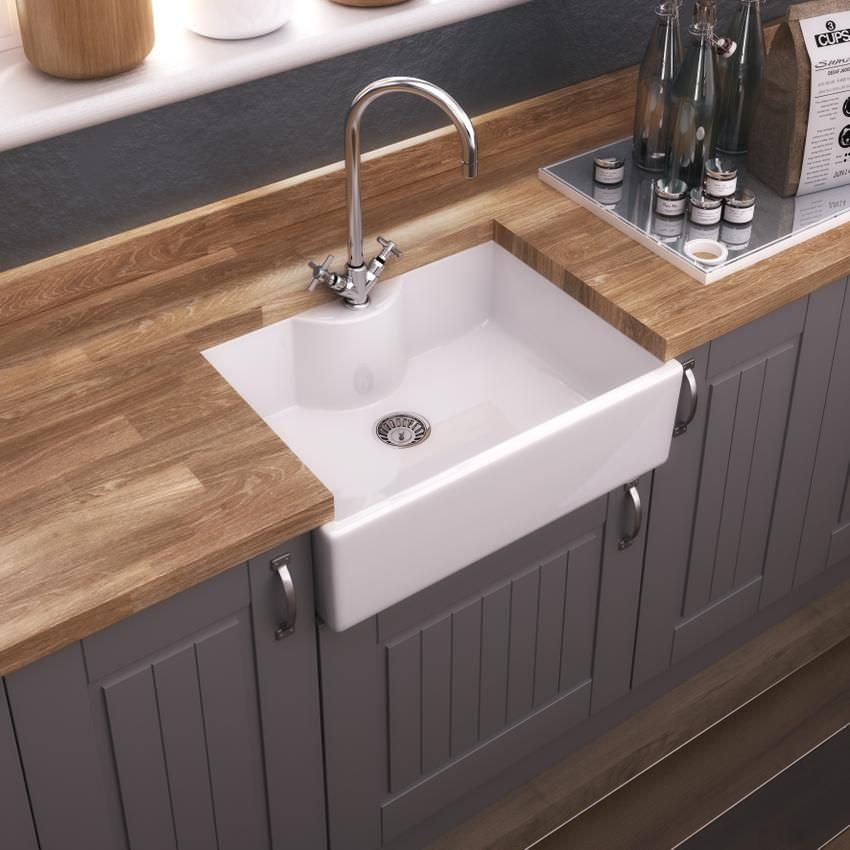 Cucina A Gas 60 X 60 Old London Staffordshire 595 X 450mm Butler Kitchen Sink