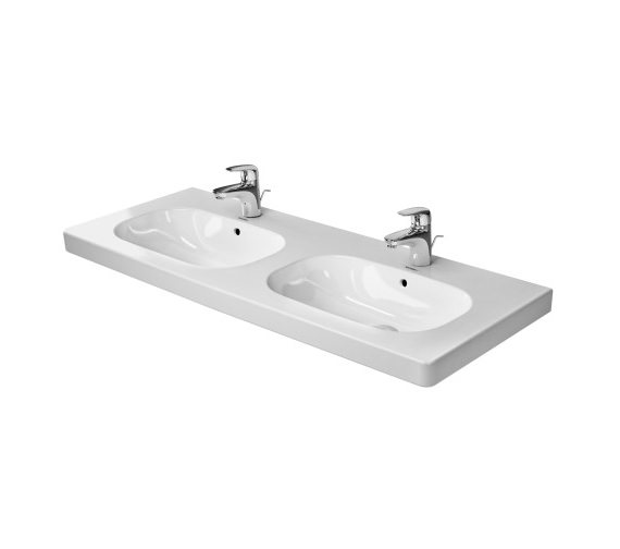 Doppelwaschbecken 120 Duravit D-code 1200mm Double Washbasin Without Tap Hole ...