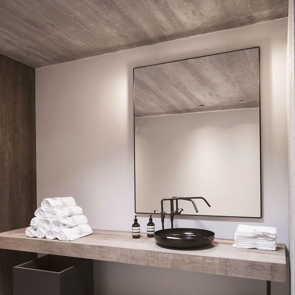 Bathroom Origins Docklands Rectangular Non Illuminated Framed Mirror B375561