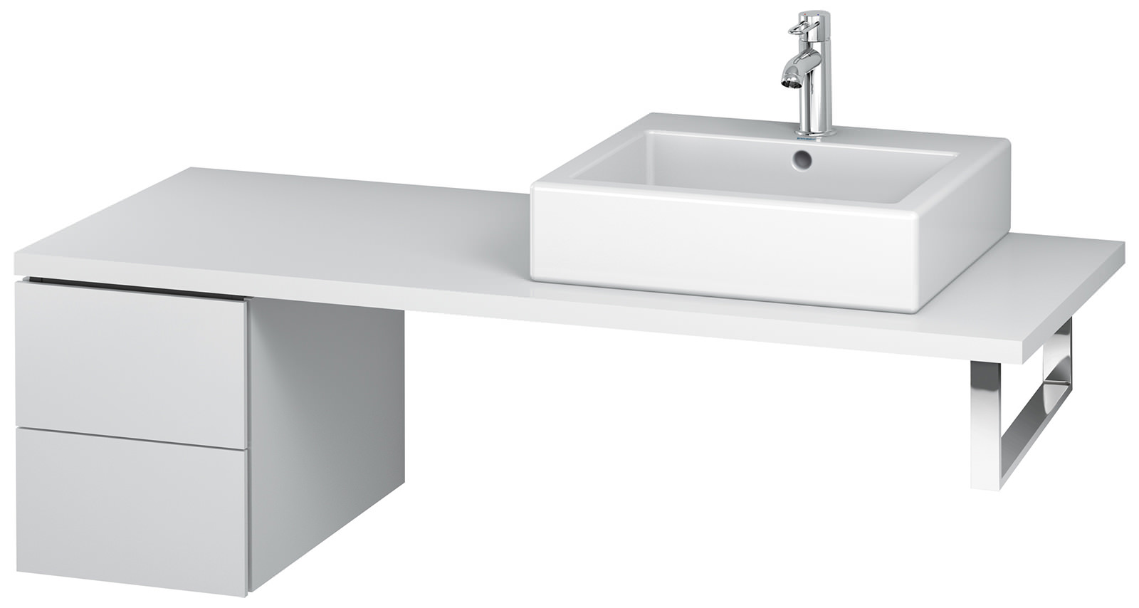 Duravit L Cube 320mm Double Drawer Floor Standing Vanity