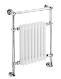 DQ Heating Lynford Wall Mounted Chrome Towel Rail 509 x ...