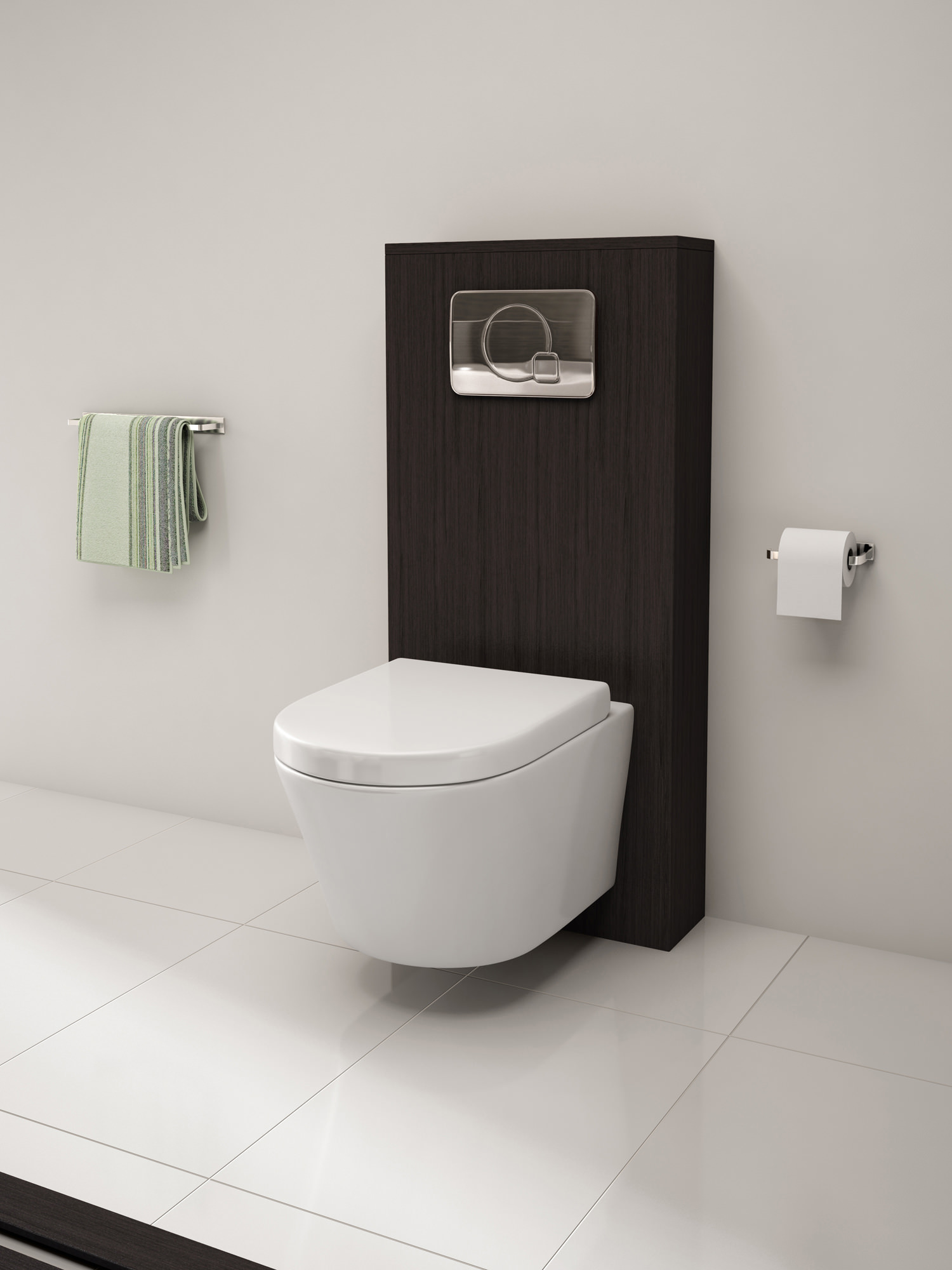 Kitchen Taps Pura Arco Wall Hung Wc Bowl And Soft Close Seat 520mm
