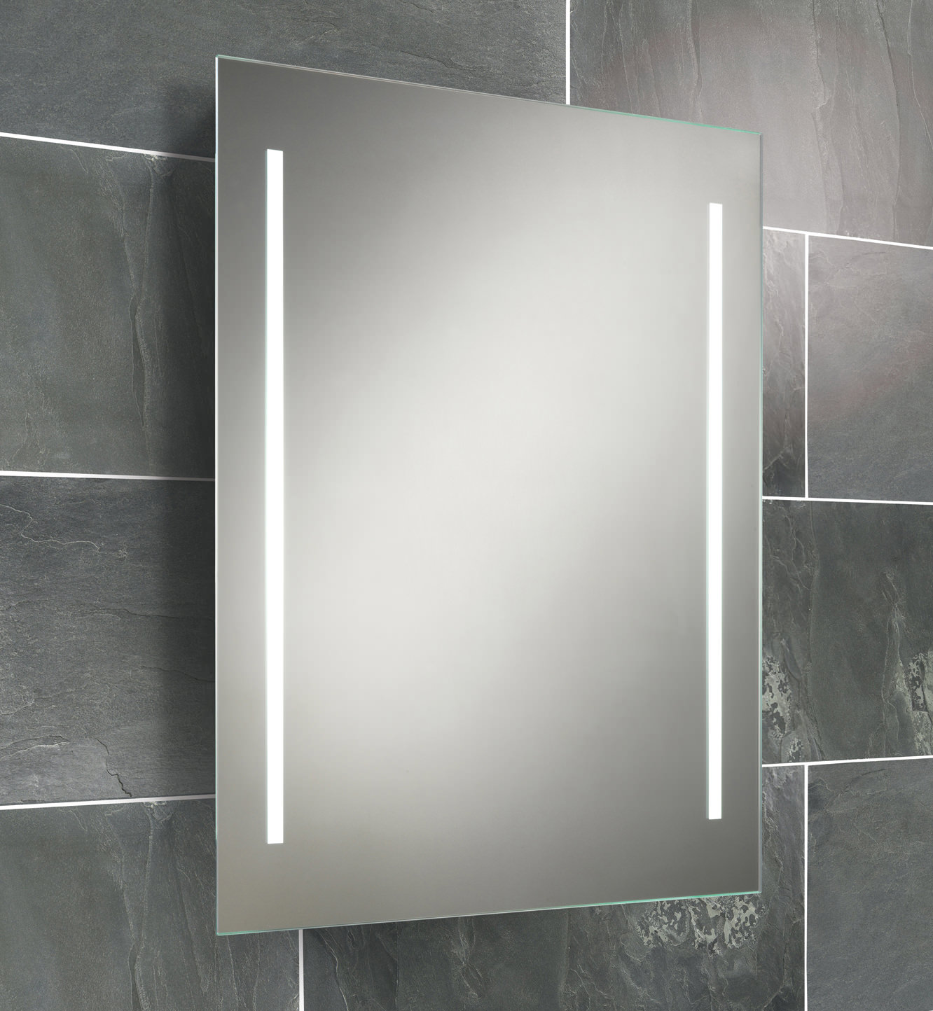 Battery Operated Bathroom Mirrors Hib Casey Fluorescent Back Lit Mirror 600 X 800mm 77309000