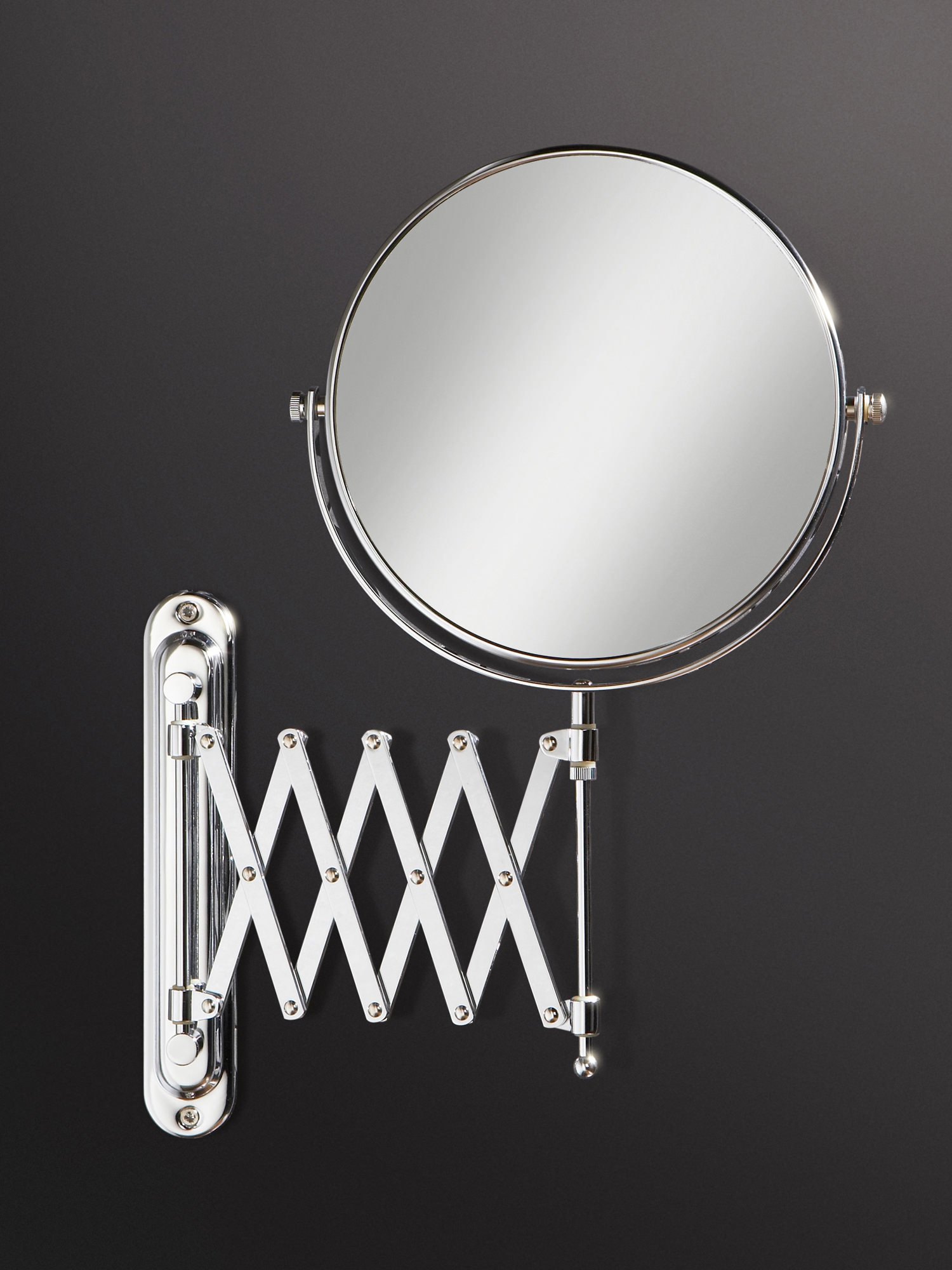 Bathroom Extension Mirrors Hib Rossi Extendable Magnifying Bathroom Mirror 27200