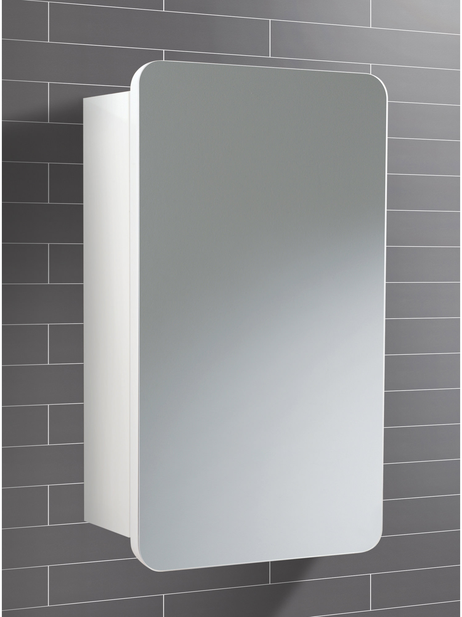 Bathroom Cabinet Mirror Doors Hib Montana Single Door Bathroom Mirrored Cabinet 350 X