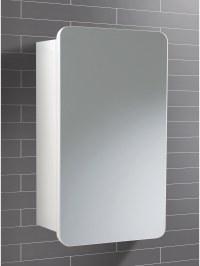 HIB Montana Single Door Bathroom Mirrored Cabinet 350 x ...