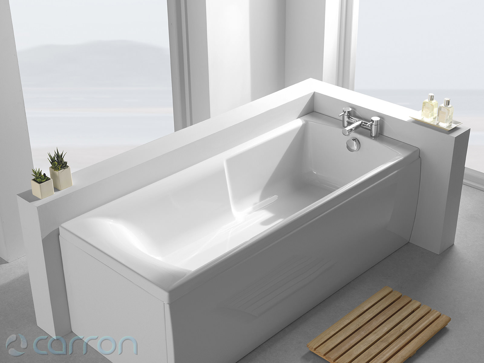 Begehbare Badewannen Carron Matrix 5mm Acrylic Single Ended Bath 1500 X 700mm