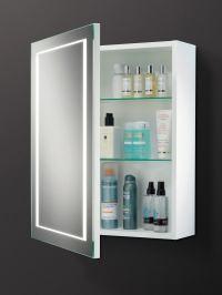 HIB Austin Single Door LED Back-Lit Illuminated Cabinet ...