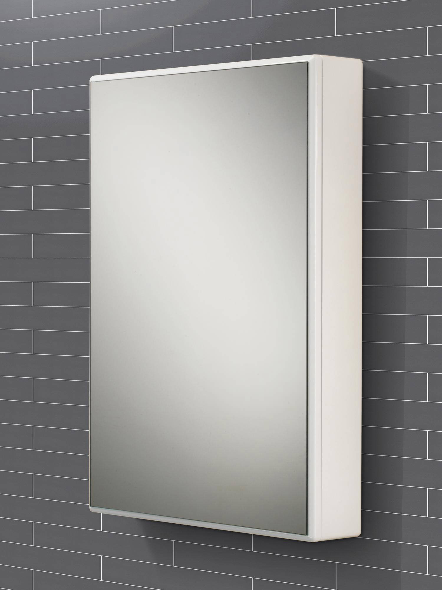 Mirrored Bathroom Cupboard Hib Tulsa Slimline Single Door Mirrored Cabinet 500 X