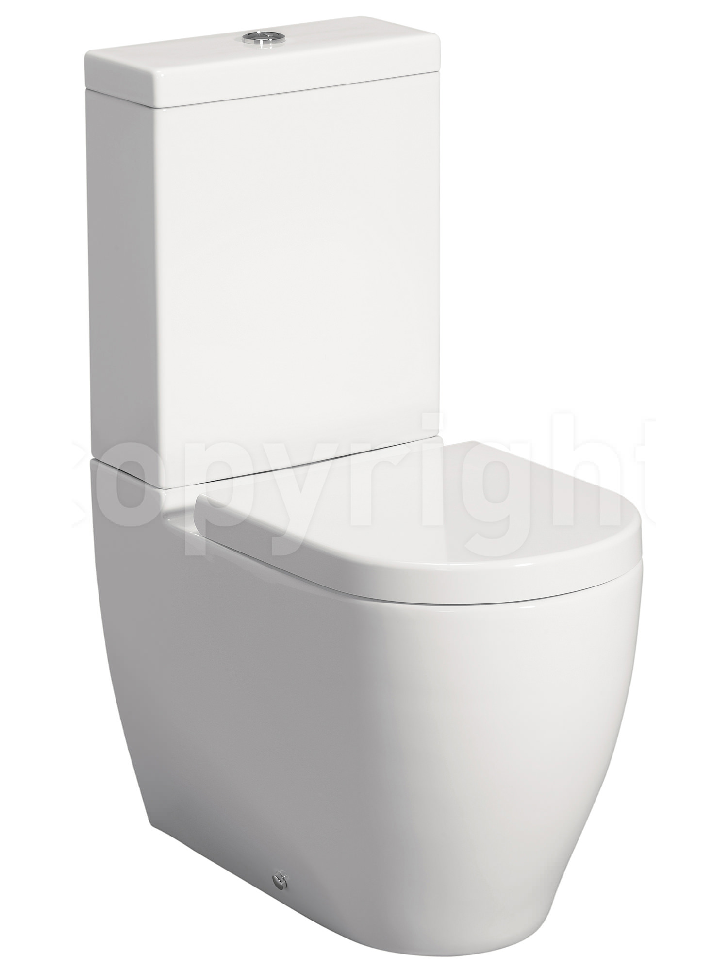 Wc Bauhaus Bauhaus Stream Ii Close Coupled Wc Pan 630mm With Cistern And Seat