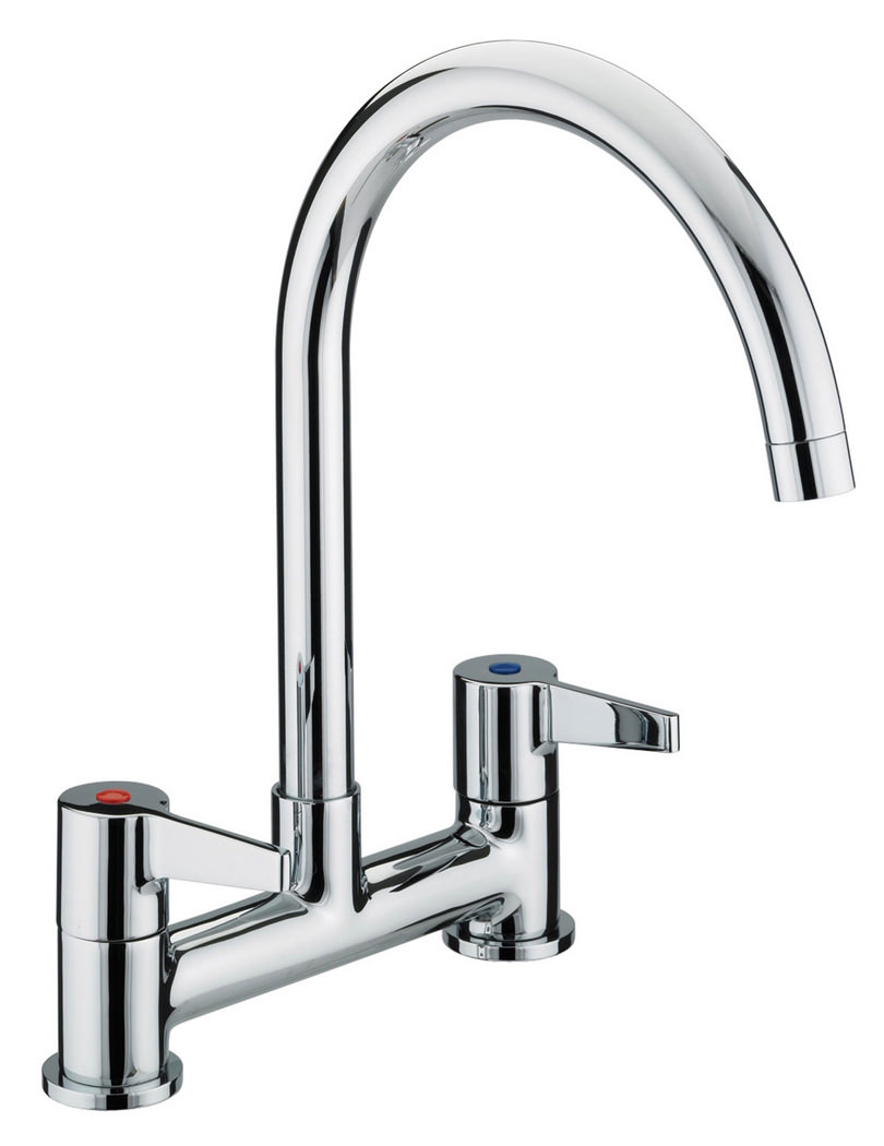 Kitchen Mixer Tap Bristan Design Utility Kitchen Deck Lever Handles Sink Mixer Tap