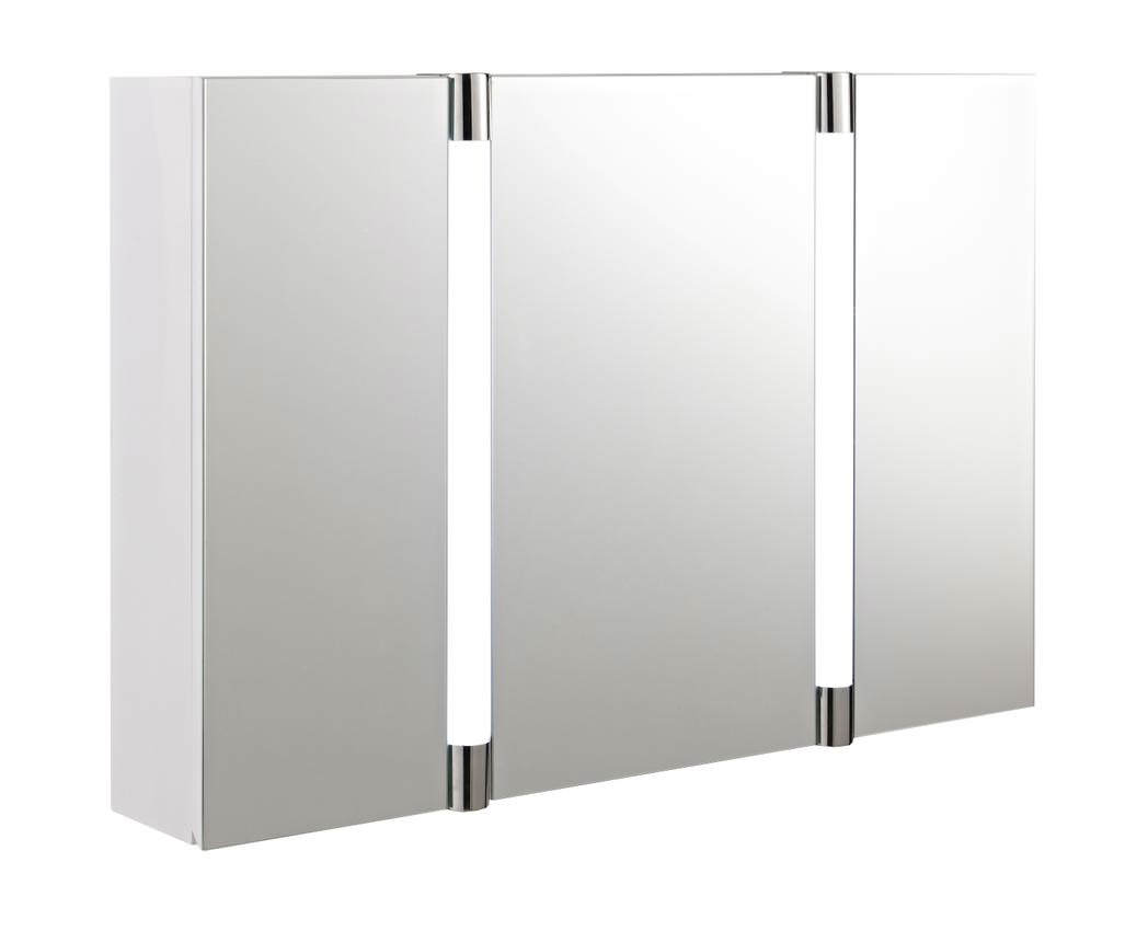 Mirrored Bathroom Cupboard Hudson Reed Lincoln Mirror Cabinet With Clock And Shaving