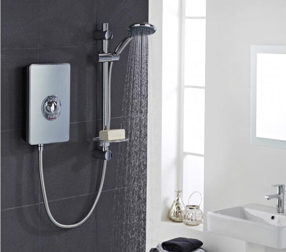 Kitchen Taps Vado Elegance Metallic And Chrome Electric Shower 9.5kw