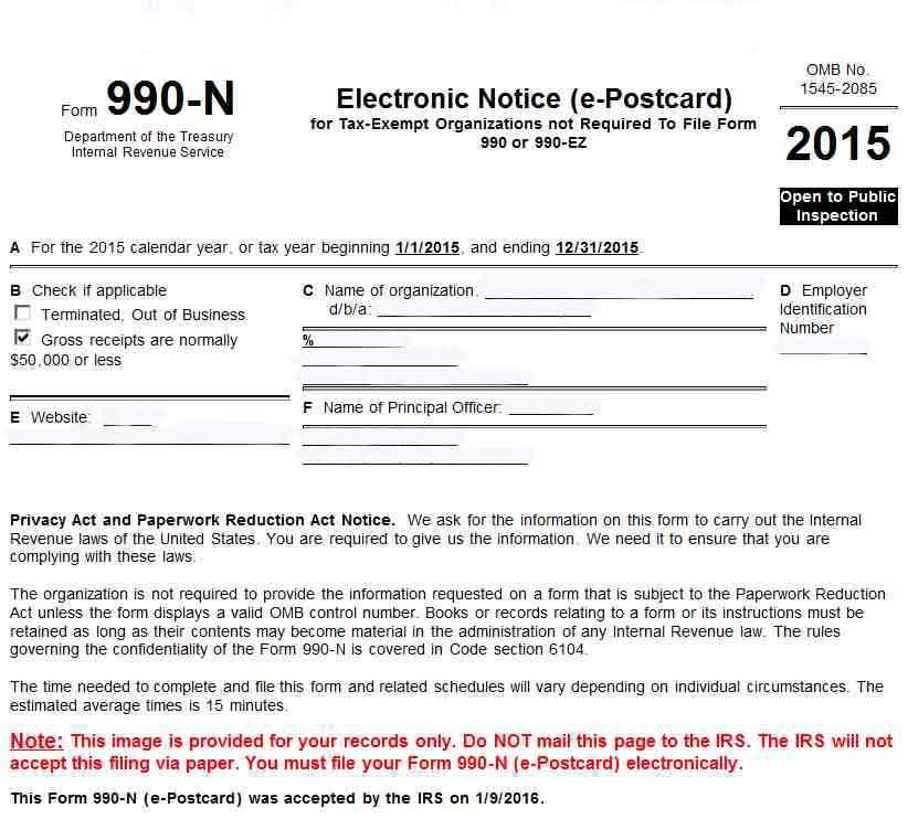 StartCHURCH Form 990 Service