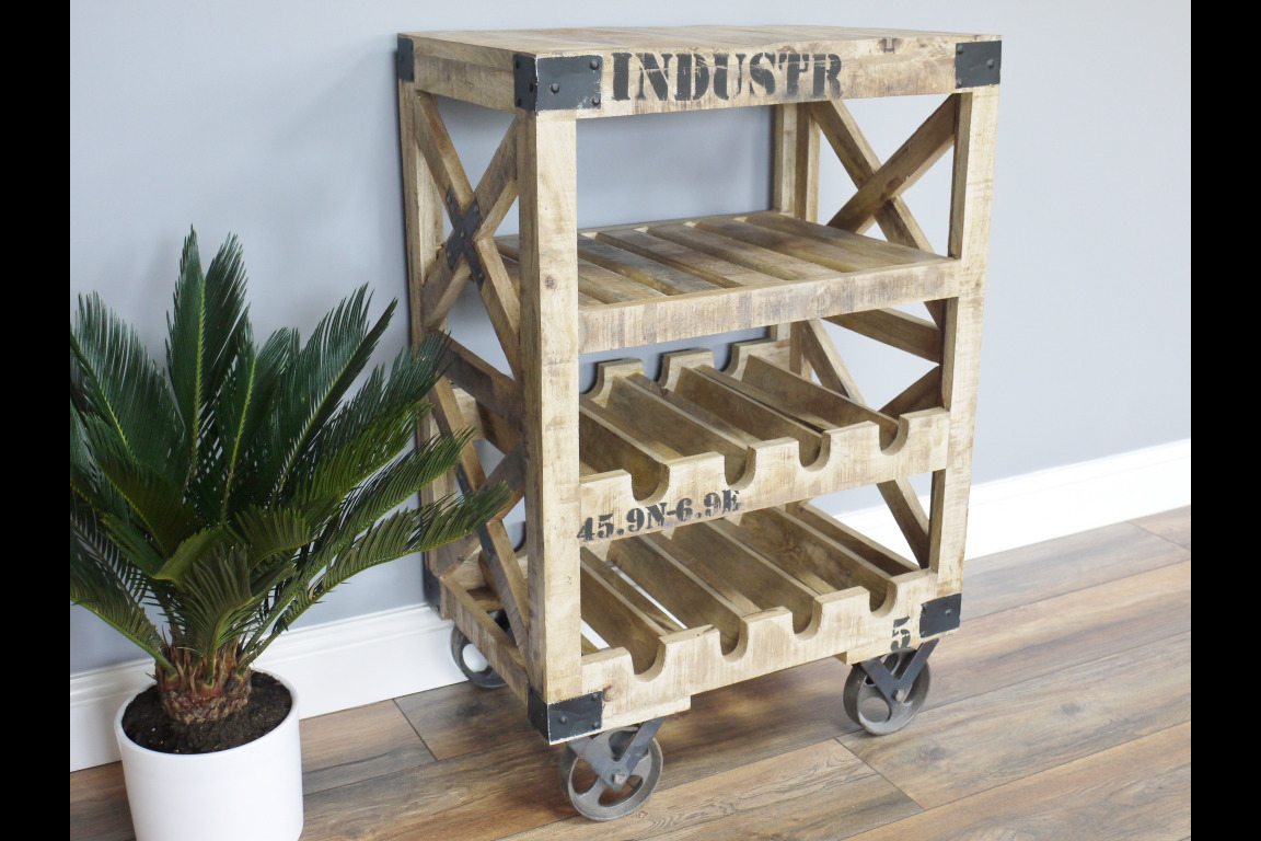 Barschrank Industrial Dutch Industrial Rustic Handmade Wine Trolley Bar Or Drinks Unit On Cast Iron Wheels