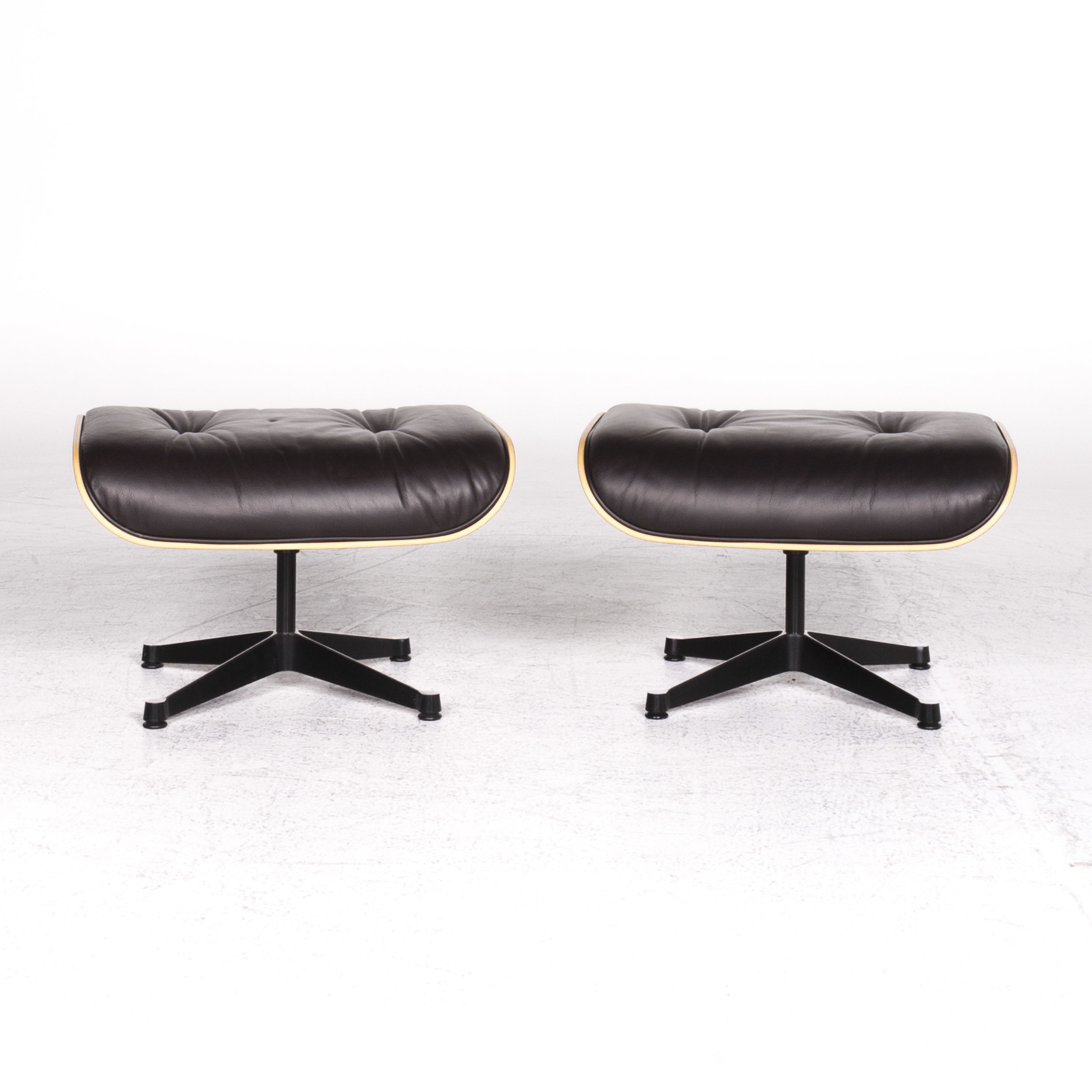 Vitra Eames Lounge Chair Black Vitra Eames Lounge Chair Designer Leather Stool Set Brown Charles Ray Eames Chair 9012