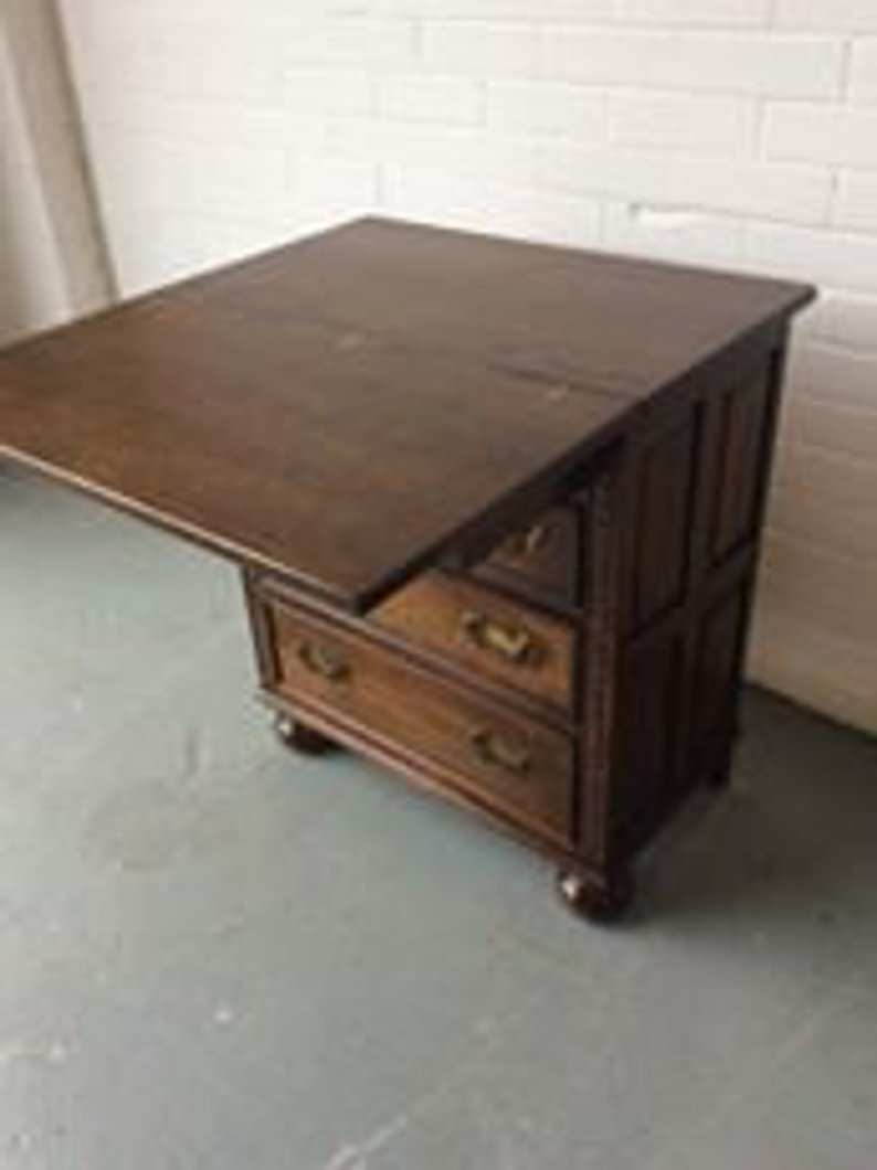 Unusual Desk Unusual Solid Oak Chest Of Drawers Writing Desk C1930