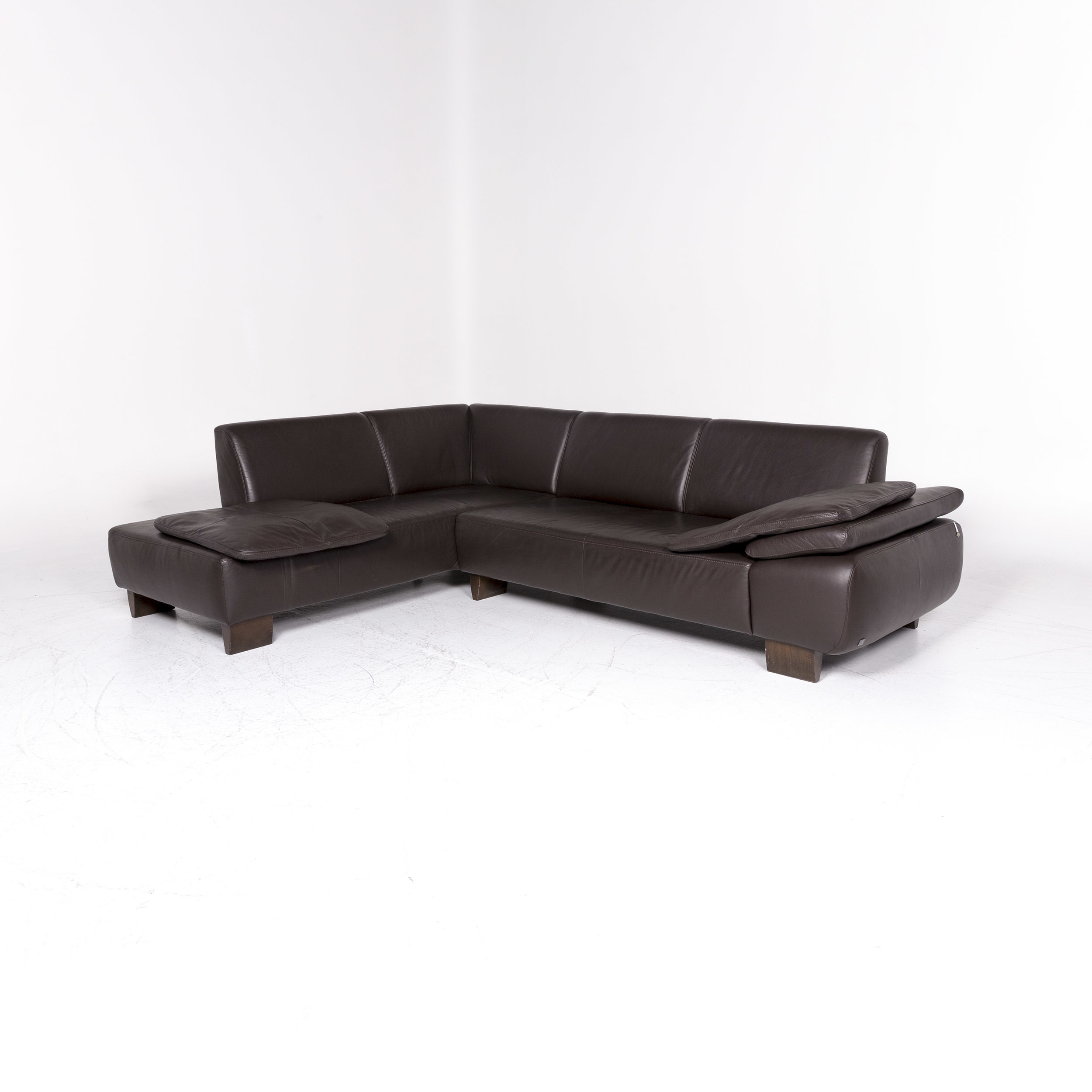 Willi Schillig Ecksofa Longlife Leder Willi Schillig Designer Leather Corner Sofa Brown Sofa Couch 9076