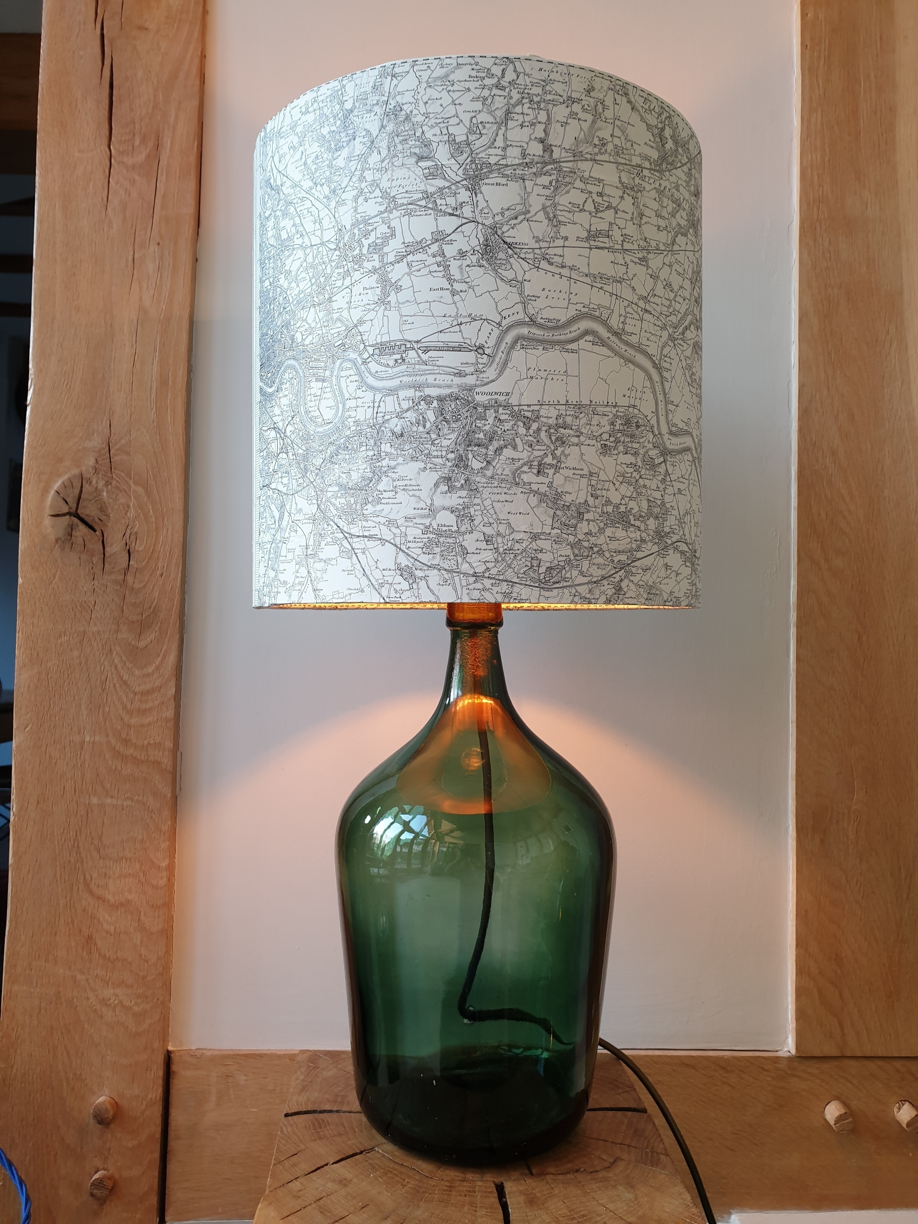Glass Jar Lamp Shade London Thames Antique Map Lamp Shade Vinterior