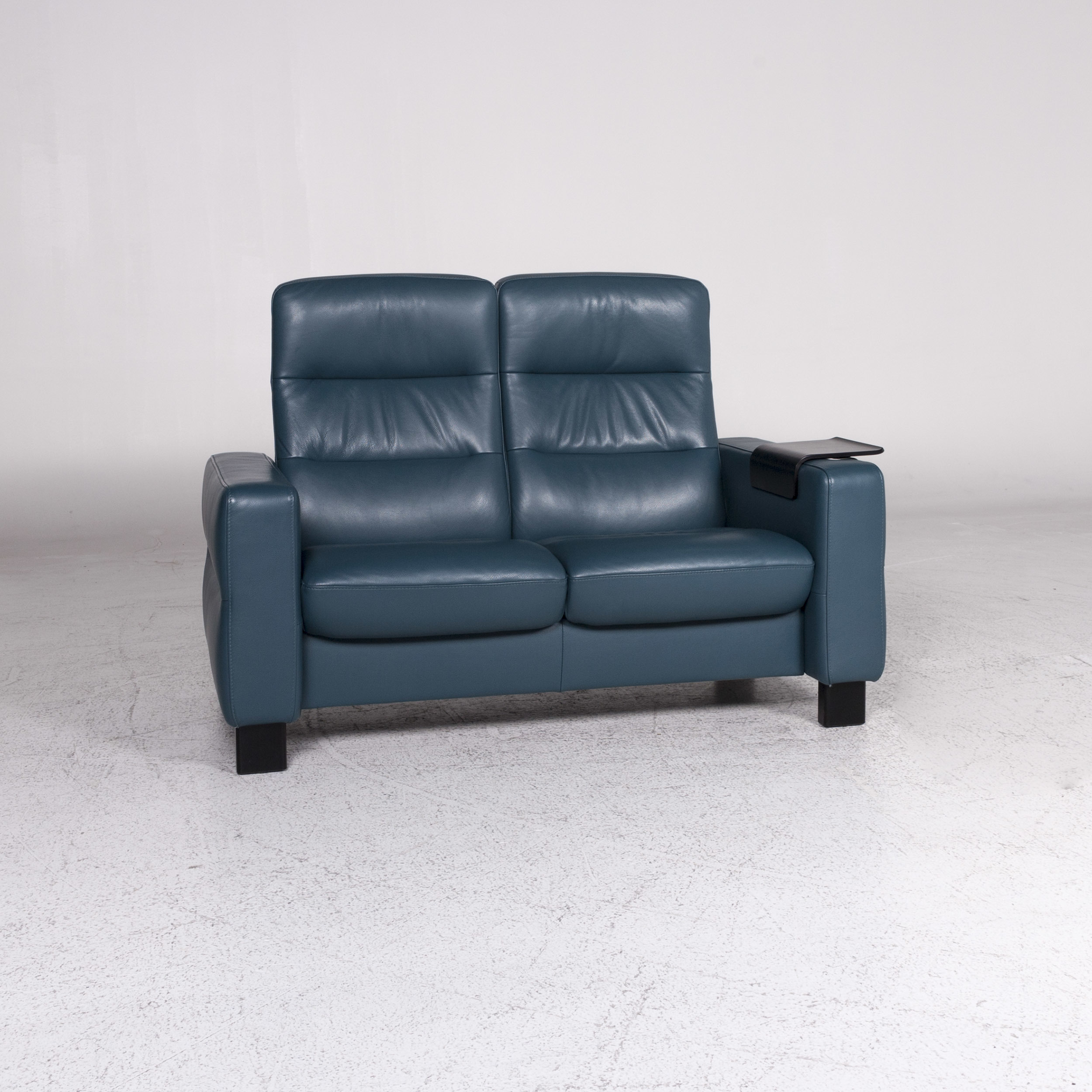 Couch Petrol Stressless Designer Leather Sofa Blue Petrol Two Seater Couch 9648