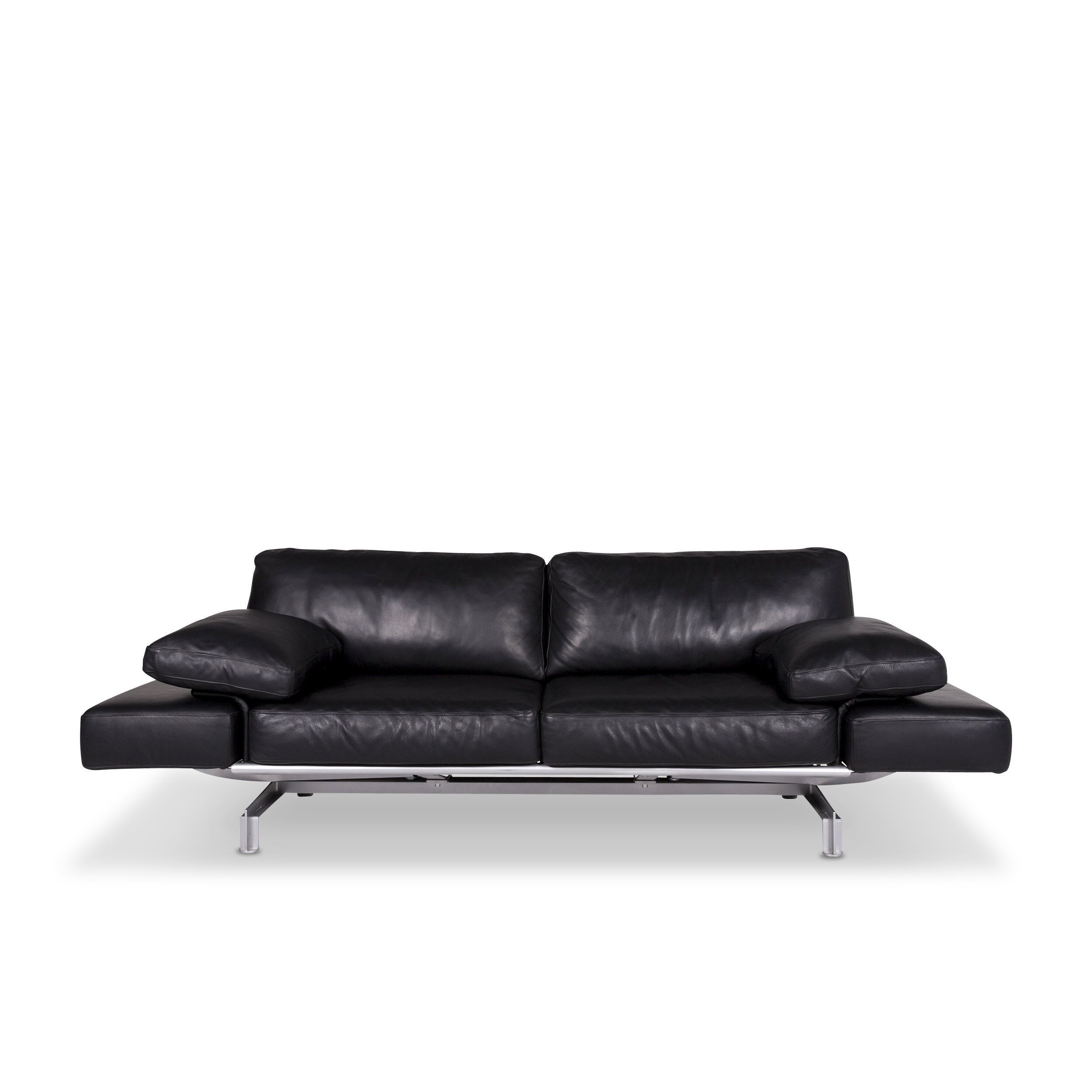 Quotes On Sofa Wk Wohnen Gaetano 687 Designer Leather Sofa Black Two Seater Relax Function Couch 9547